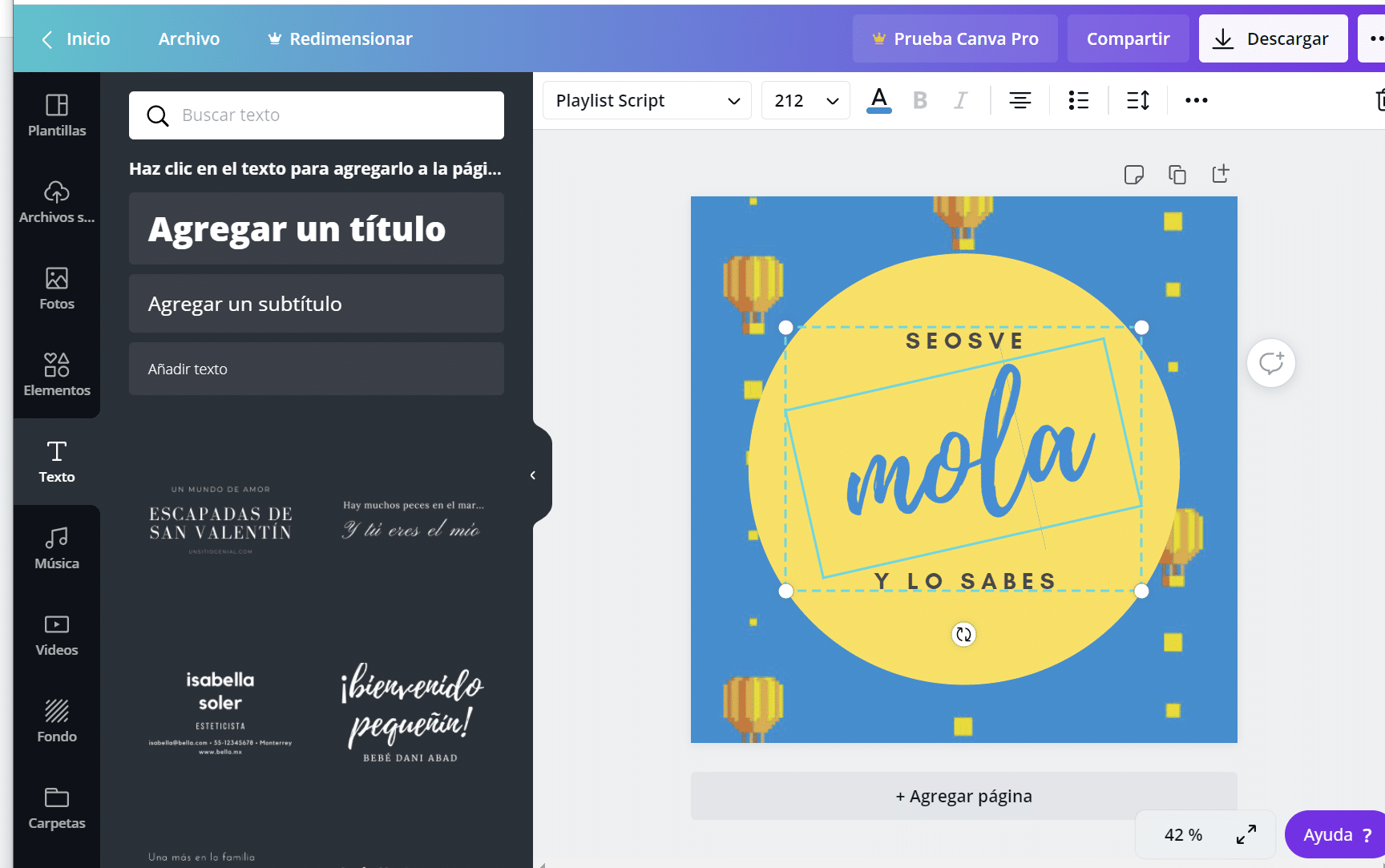 Tutorial de Canva 8: Textos en Canva