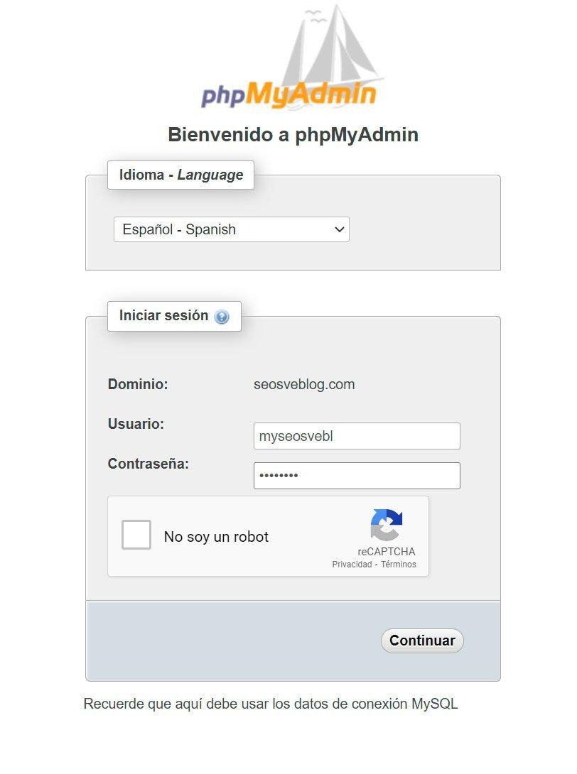 Descargar base de datos desde phpMyAdmin
