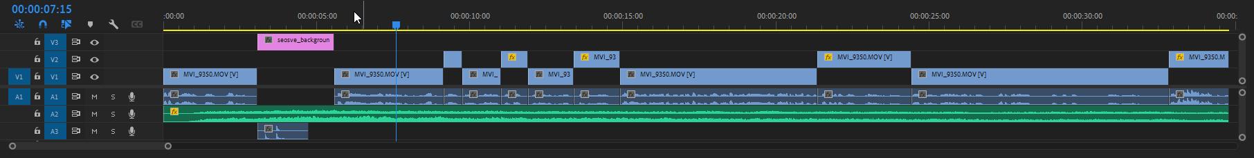 Modificar clips en Premiere