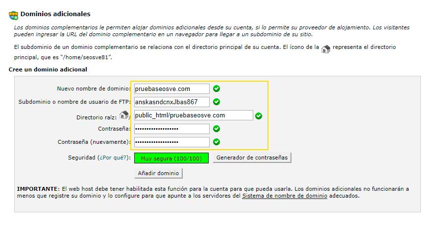 Instalar WordPress en cPanel: Paso 2