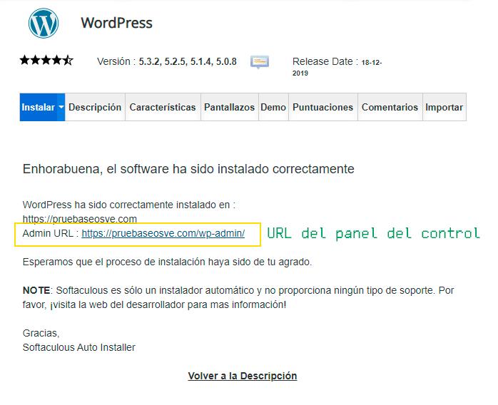 Instalar WordPress en cPanel: Paso 9