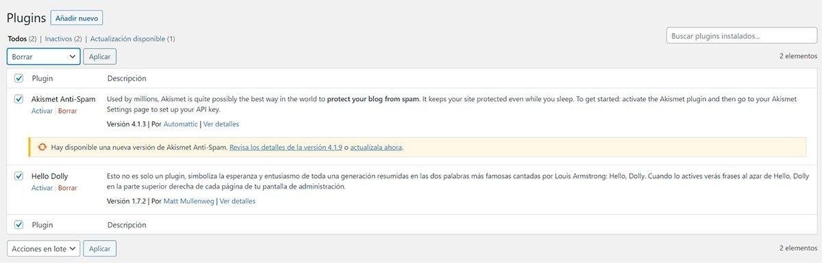 Configuración de WordPress