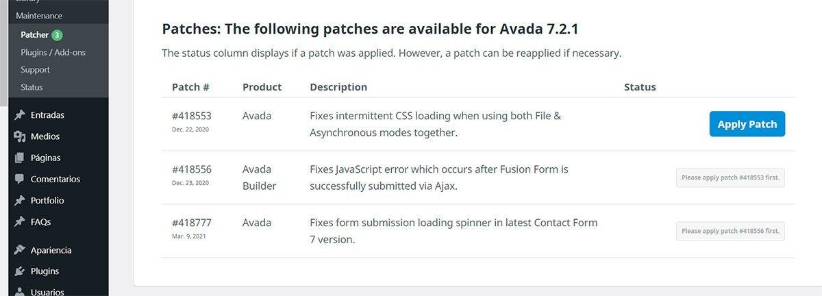 Configurar Avada