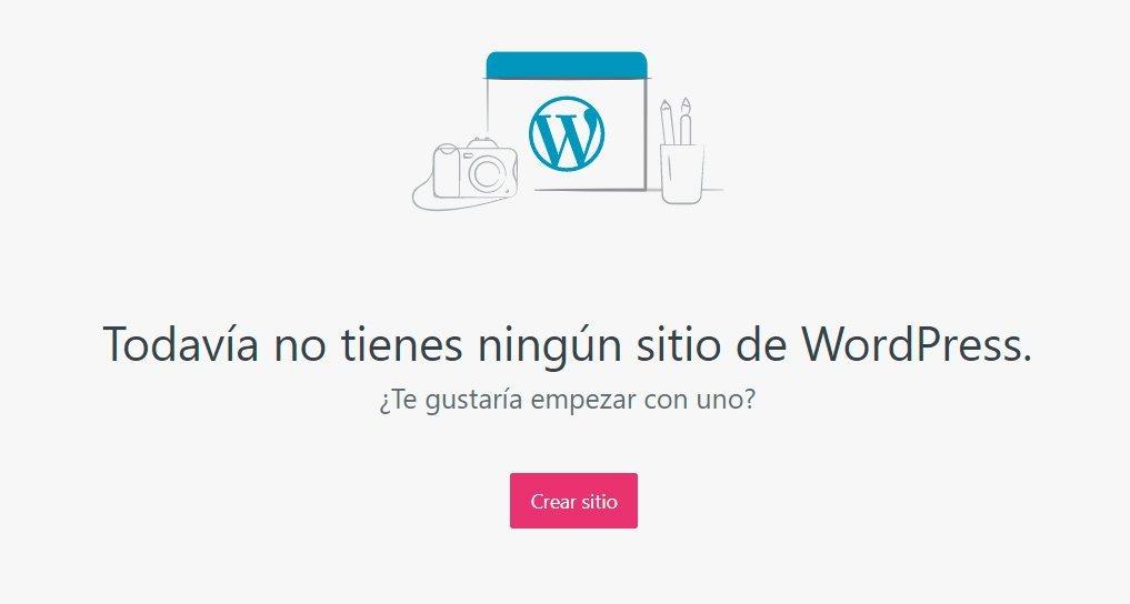 Crear sitio en Wordpress