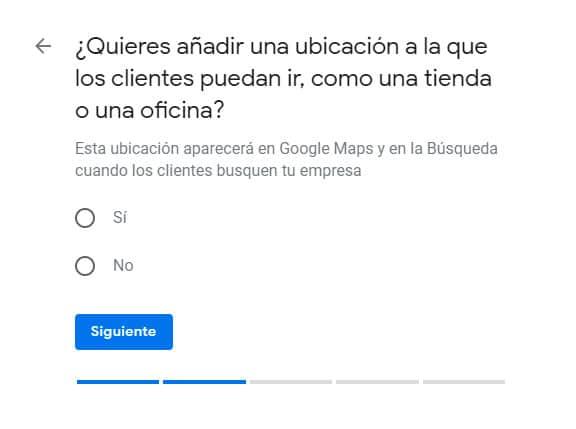 Crear ubicación en Google my Business