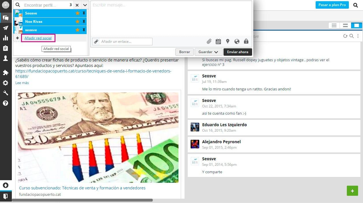 Gestionar redes sociales con Hootsuite
