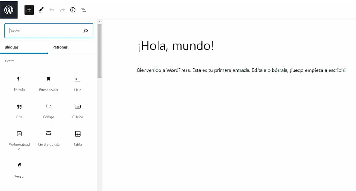 Guía de Gutenberg en WordPress
