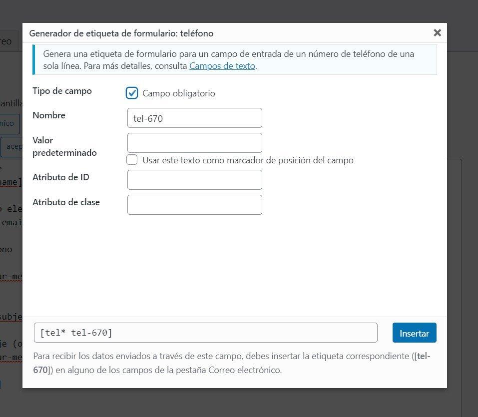 Instalar y configurar Contact Form 7