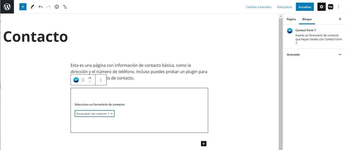 Instalar y configurar formularios de contacto