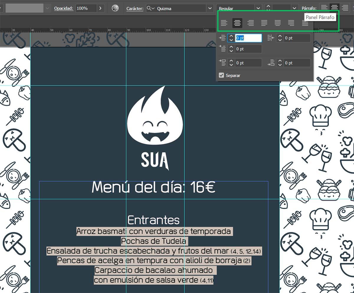 Diseño: Interlineado y alineación