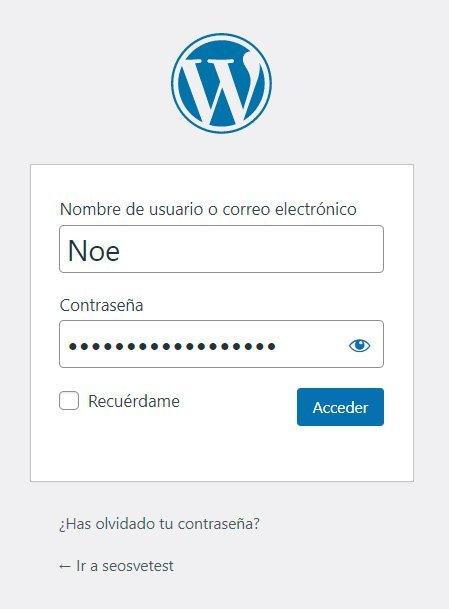 Loggin en Wordpress