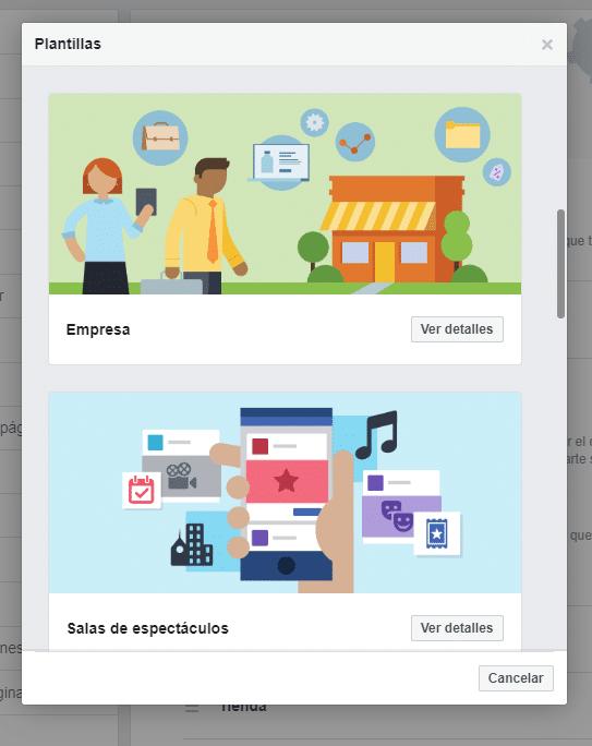 Marketing Digital en Facebook: Plantillas