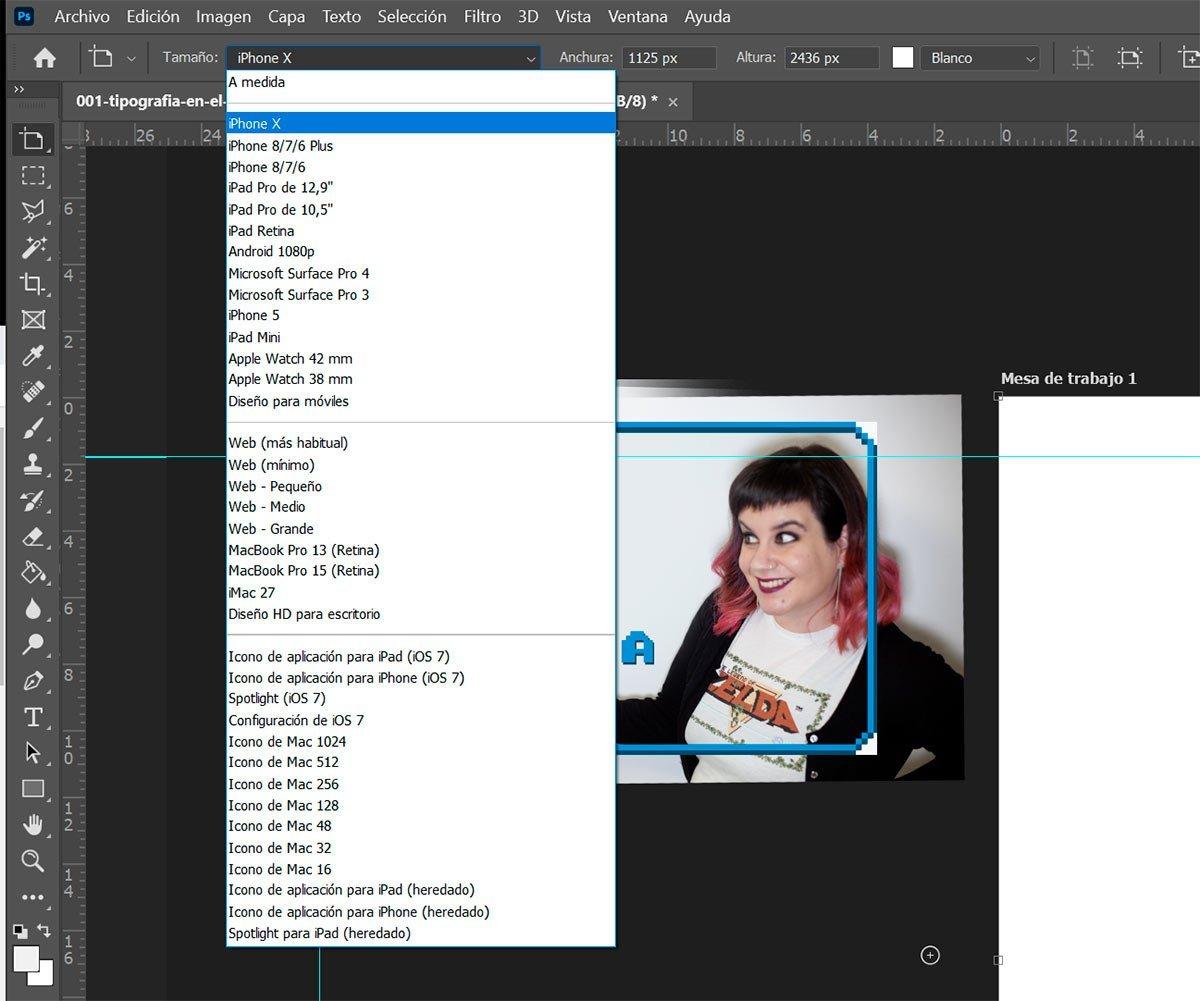 Mesas de trabajo personalizadas en Photoshop