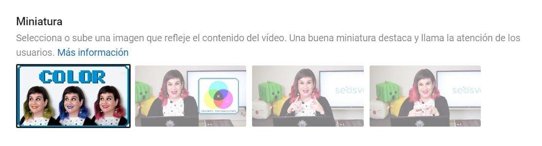 Miniaturas de YouTube