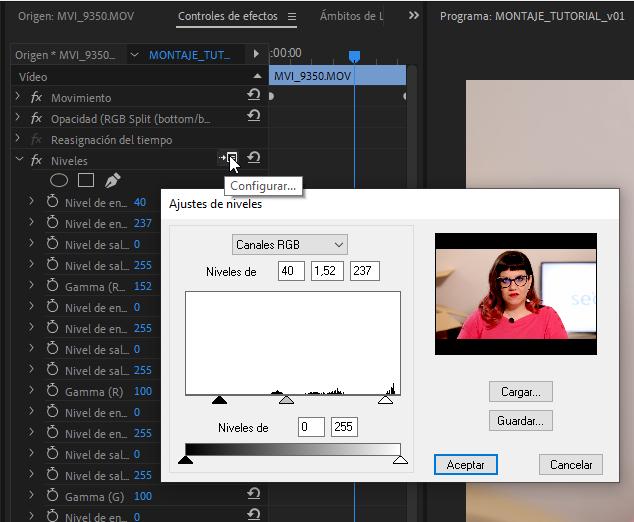 Modificar efectos de vídeo en Premiere Pro