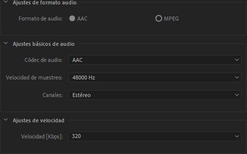 Parámetros personalizados de vídeo en Premiere Pro