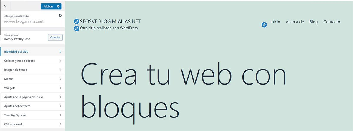 Personalizar tema de WordPress