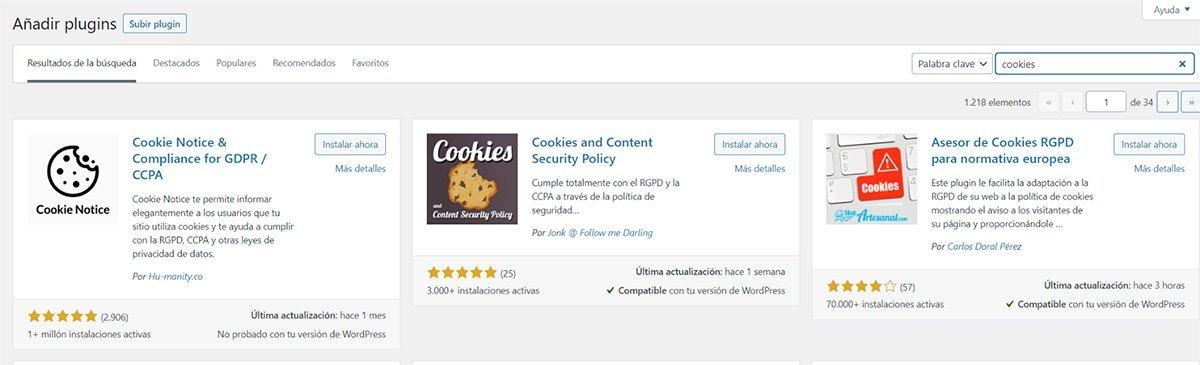 Plugins para Cookies