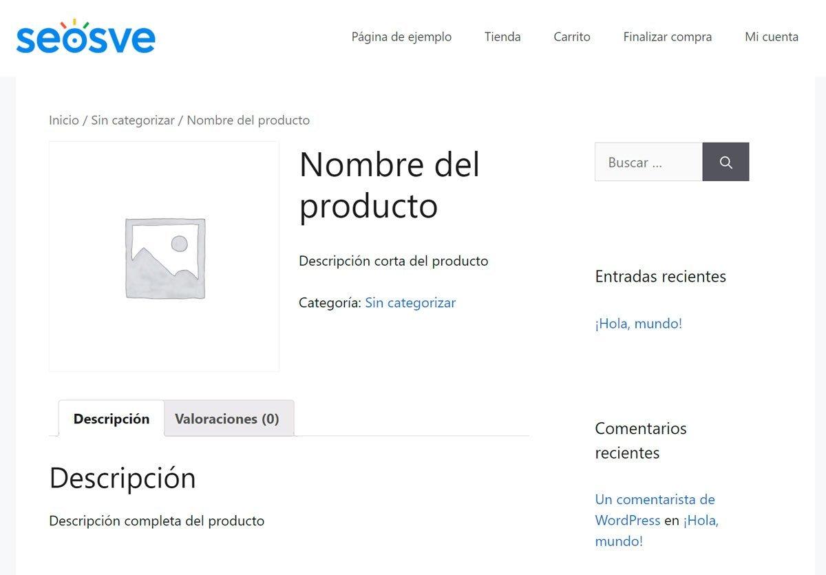 Productos en WooCommerce