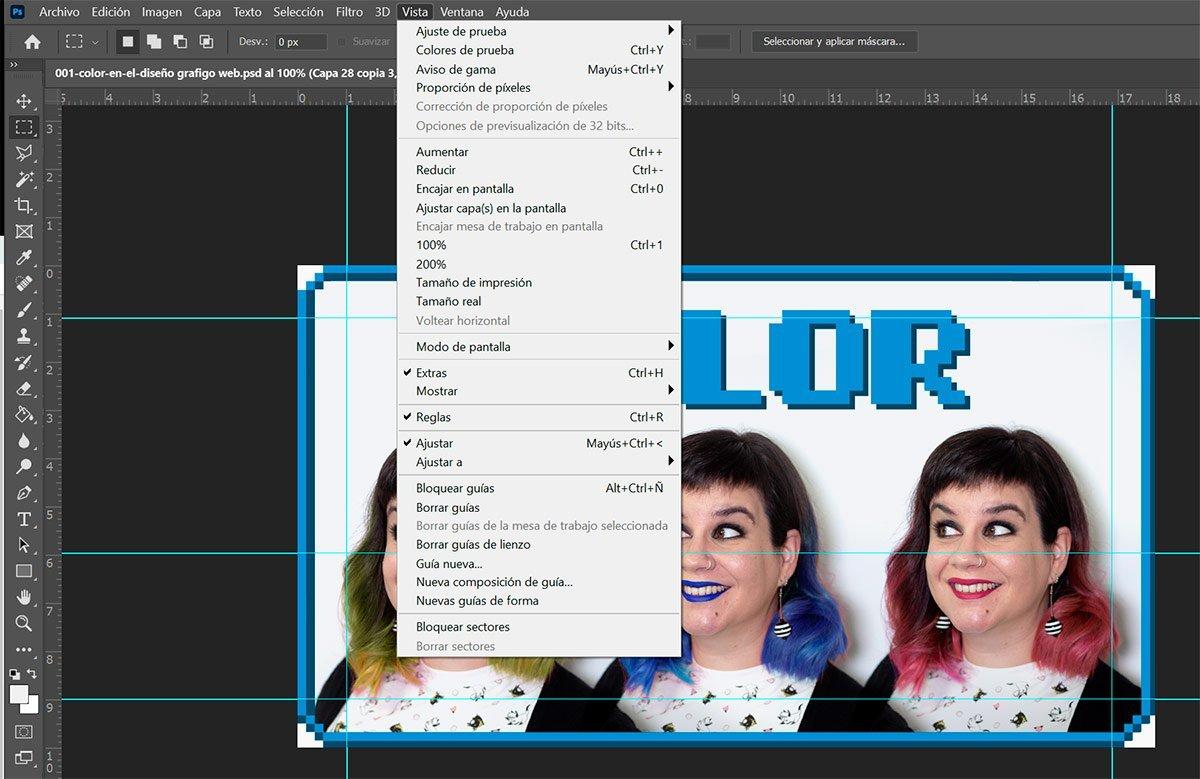 Retículas y Guías en Photoshop e Illustrator