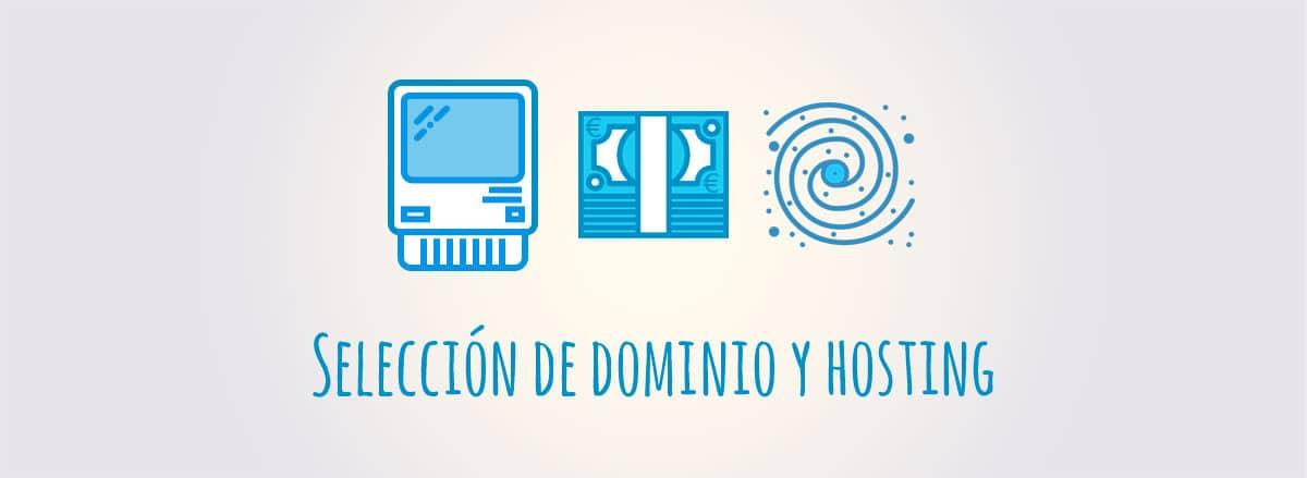 Selección de dominio y hosting