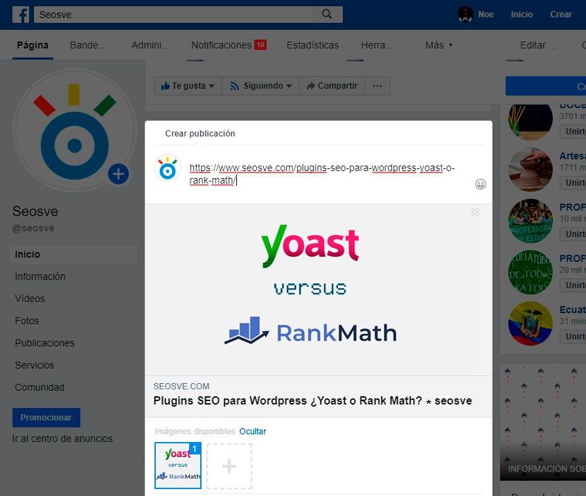 Configuración Social en SEO Yoast
