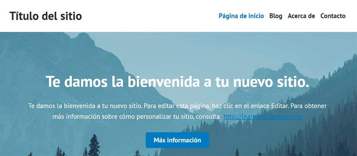 Título del sitio en Wordpress